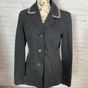 CABI CHARCOAL GRAY BUTTON FRONT JACKET